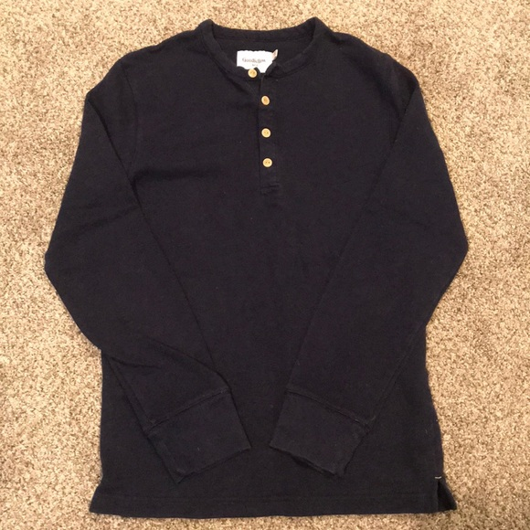 Navy Goodiellow /& Co Mens Big /& Tall Standard Fit V-Neck Long Sleeve Sweater